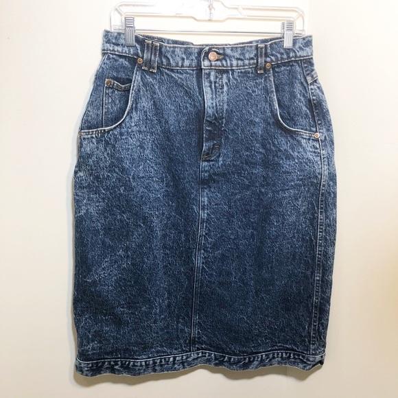 4a25dcd67e Lee Skirts | 80s High Waist Acid Wash Jeans Skirt 16 | Poshmark